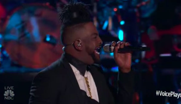 "DR King sings ""All on my Mind"" on The Voice 2018 Live Playoffs"