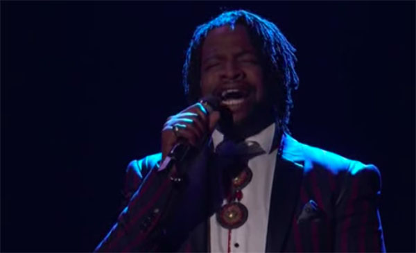 """DR King sings """"White Flag"""" on The Voice 2018 Top 12 Live Shows"""