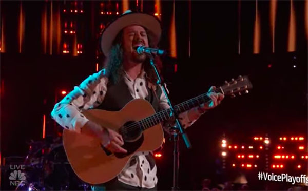 "Drew Cole sings ""Wild Horses"" on The Voice 2018 Live Playoffs"