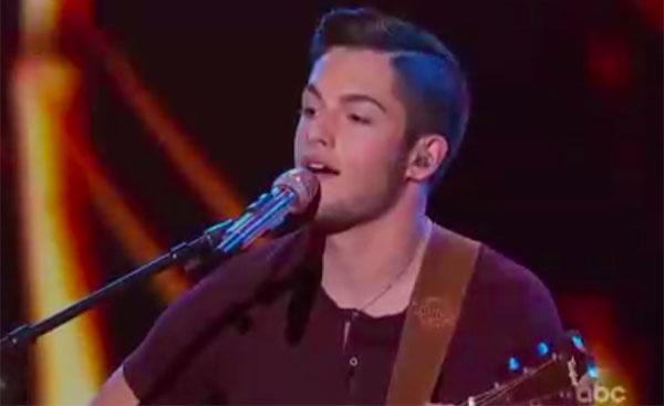 "Garrett Jacobs sings ""Raging Fire"" on American Idol 2018 Top 14 Live Shows"