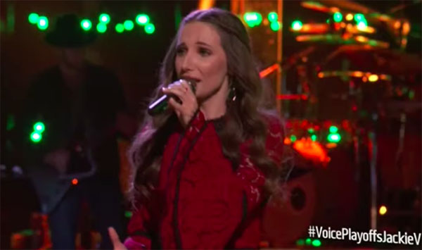 "Jackie Verna sings ""Once"" on The Voice 2018 Live Playoffs"