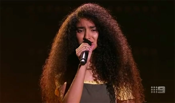 "Lara Dabbagh sings ""Rise Up"" on The Voice Australia 2018 Blind Auditions"