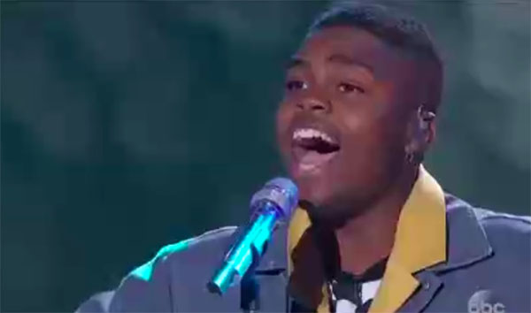 "Michael J Woodard sings ""Titanium"" on American Idol 2018 Top 14 Live Shows"