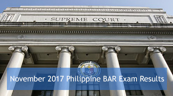 November 2017 Bar Exam Results Passers and Topnotchers
