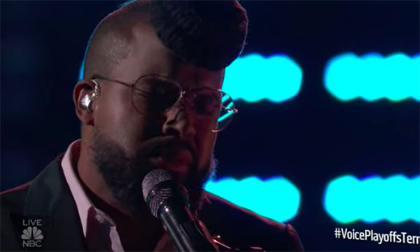 "Terrence Cunningham sings ""Ain't Nobody"" on The Voice 2018 Live Playoffs"