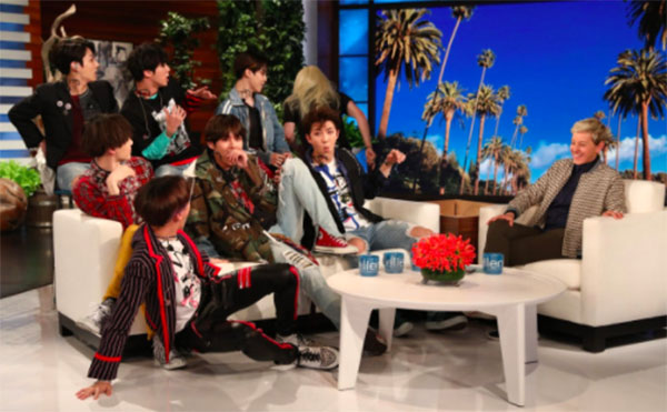 "BTS on Ellen DeGeneres Show ""Fake Love"" Performance Live Coverage"
