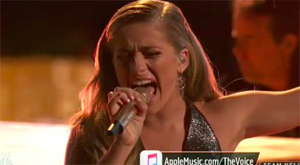 "Brynn Cartelli sings ""Skyfall"" on The Voice 2018 Top 4 Finale"