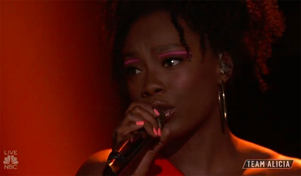 "Christiana Danielle sings ""Umbrella"" on The Voice 2018 Top 11"