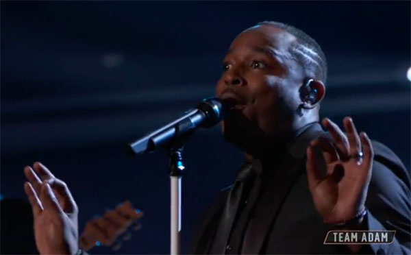 "Rayshun LaMarr sings ""Try a Little Tenderness"" on The Voice 2018 Top 11"