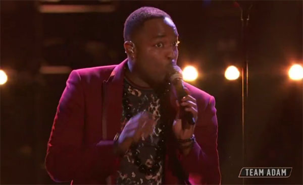 "Rayshun Lamarr sings ""Imagine"" on The Voice 2018 Top 8 Semifinals"