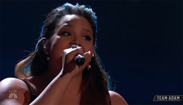 "Sharane Calister sings ""Hero"" on The Voice 2018 Top 11"