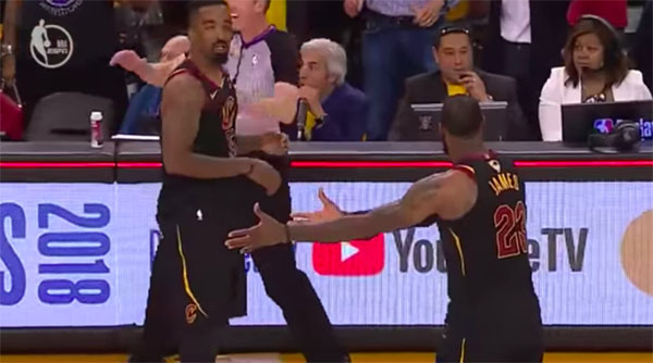 VIDEO: JR Smith Ruins LeBron James Heroic Play on 2018 NBA Finals Game 1