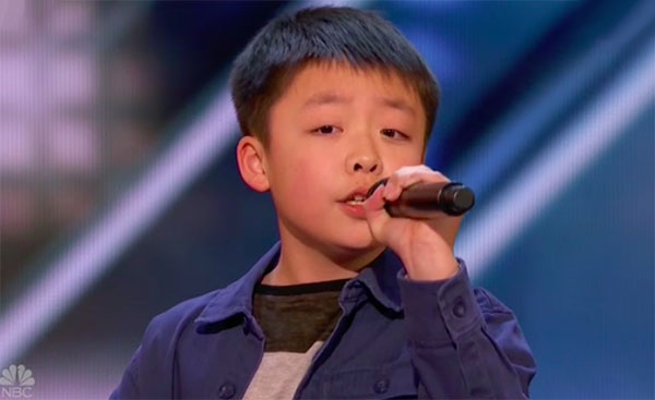 "Jeffrey Li sings ""You Raise Me Up"" on America's Got Talent 2018 Audition"