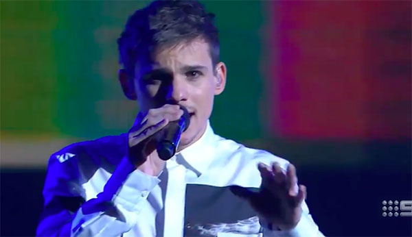 "Sam Perry performs Winner's Single ""Trust Myself"" on The Voice Australia 2018"