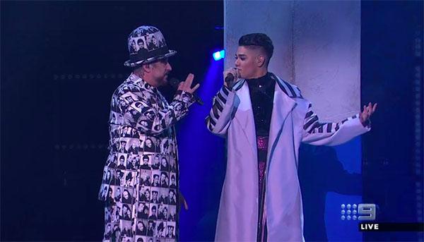 "Sheldon Riley & Boy George ""Sweet Dreams"" Duet on The Voice Australia 2018 Grand Finale"