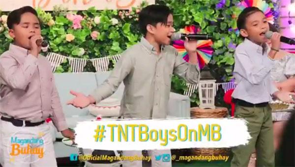"""WATCH: TNT Boys sings """"Patuloy ang Pangarap"""" on Magandang Buhay"""