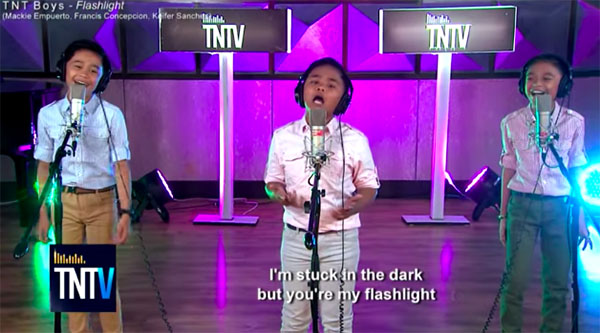 TNT Boys sings Flashlight for TNT Versions Full Video