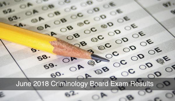 June 2018 Criminology Board Exam Results are Out