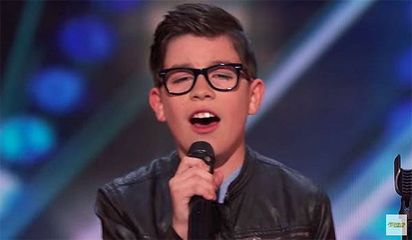"12-year-old Angel Garcia sings ""El Triste"" on America's Got Talent 2018"