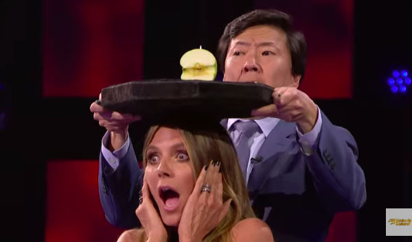 Aaron Crow Shoots an Arrow at Heidi on America's Got Talent 2018 Judge Cuts