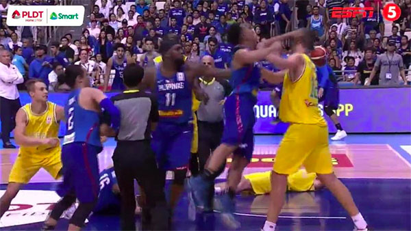 Gilas Pilipinas vs Australia Fight at FIBA World Cup Full Video
