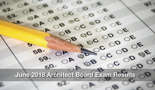 June 2018 Architect Board Exam Results