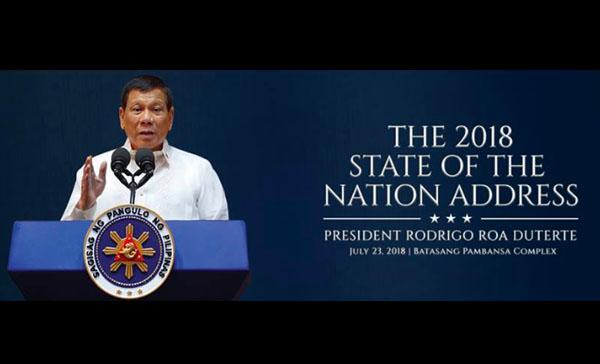 Full Text Transcript: SONA 2018 President Duterte State of the Nation Address