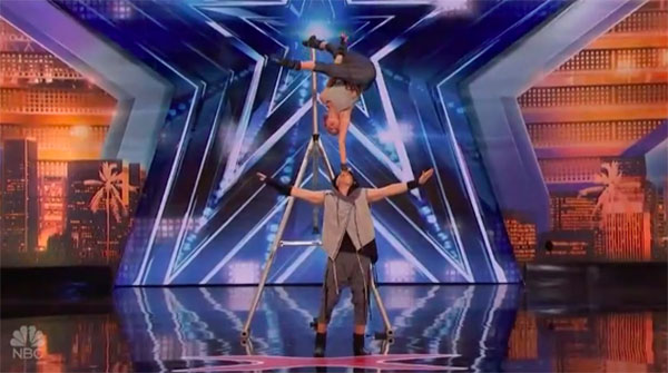 Sergey and Sasha acrobat stuns judges America's Got Talent 2018 Audition