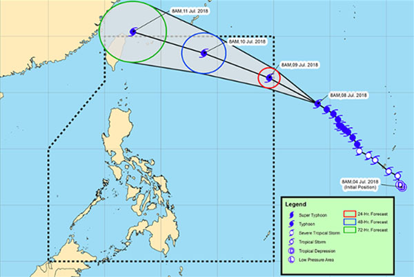 Super Typhoon Maria Maintained Strength, To Enter PAR on Monday