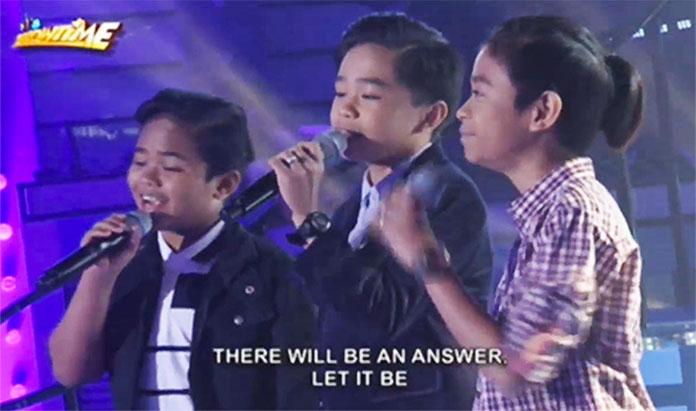 """WATCH: TNT Boys sings """"Let It Be"""" on It's Showtime"""