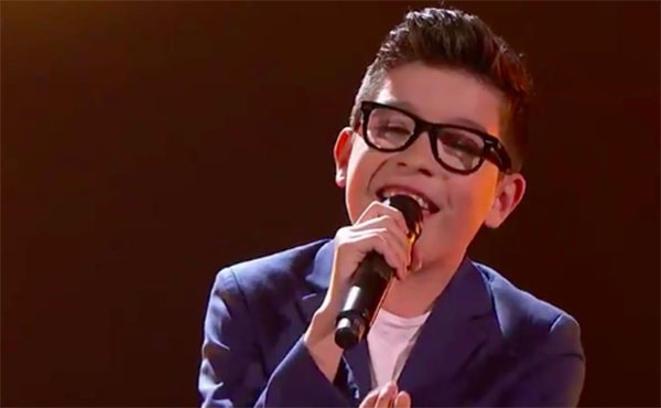 "Angel Garcia sings ""Just The Way You Are"" on Team America's Got Talent 2018 Judge Cuts"
