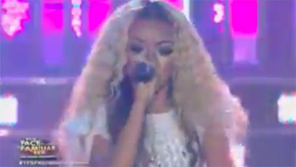 "Sheena Belarmino as ""Beyonce"" on Your Face Sounds Familiar Kids Grand Finals"