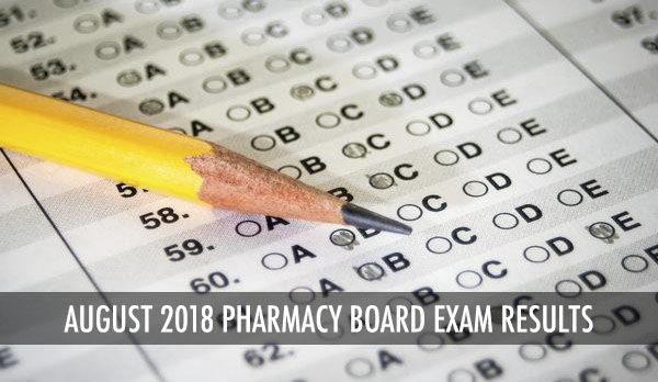 PRC Results: Pharmacy Board Exam August 2018 Passers and Top 10