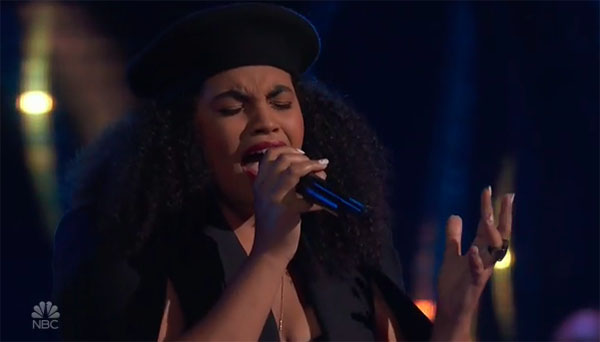 "Audri Bartholomew sings ""Never Enough"" on The Voice 2018 Blind Audition"