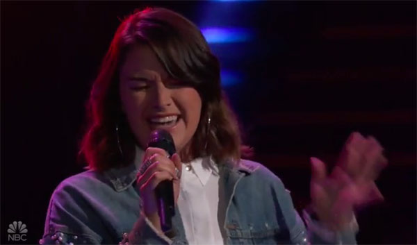 "Delaney Silvernell sings ""In My Blood"" on The Voice 2018 Blind Audition"