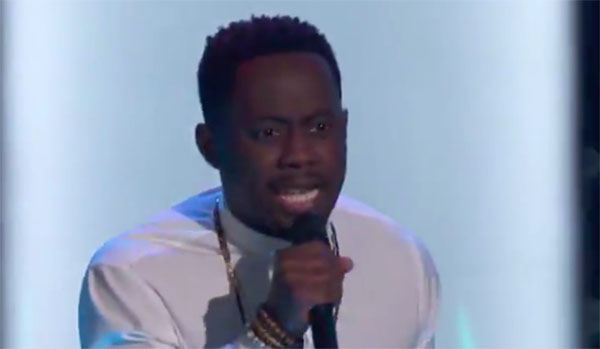"Funsho sings ""Finesse"" on The Voice 2018 Audition"
