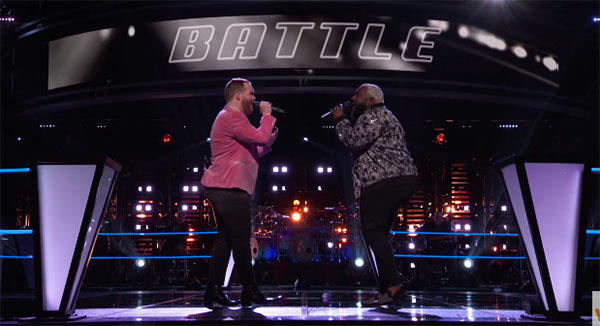 "The Voice 2018 Battles: Colton Smith vs Patrique Fortson ""God Gave Me You"""