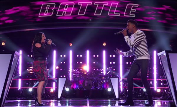 "The Voice 2018 Battles: Mike Parker and Natasia GreyCloud ""Gravity"""