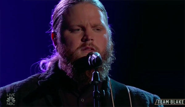 "Chris Kroeze sings ""Let It Be"" on The Voice Top 13 Live Shows"