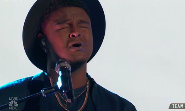 "DeAndre Nico sings ""I Can Only Imagine"" on The Voice Top 13 Live Shows"