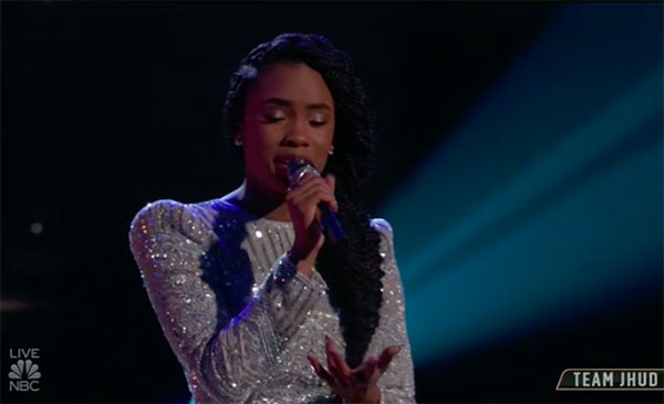 "Kennedy Holmes sings ""Wind Beneath My Wings"" on The Voice Top 13 Live Shows"