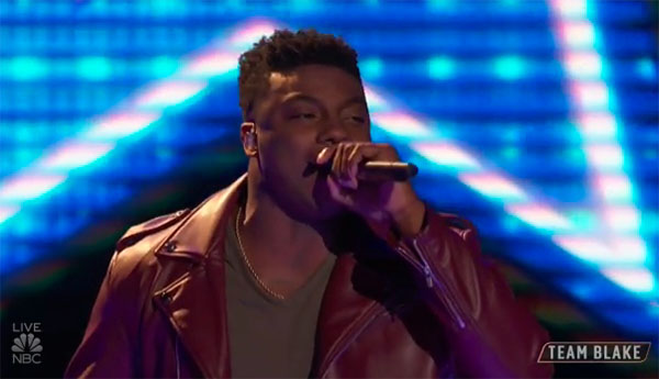 "Kirk Jay sings ""Body Like A Backroad"" on The Voice Top 11 Live Shows"