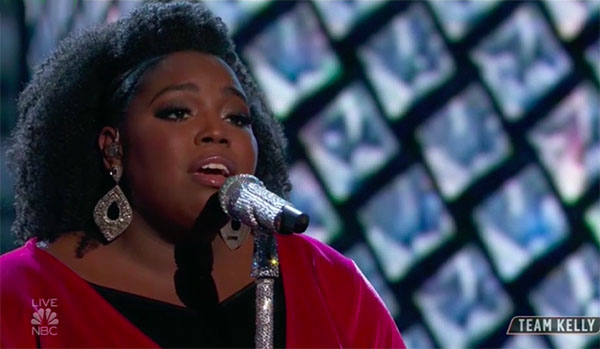 "Kymberli Joye sings ""Diamonds"" on The Voice Top 13 Live Shows"