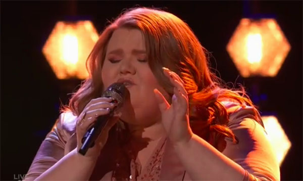 "MaKenzie Thomas sings ""Emotions"" on The Voice Top 11 Live Shows"