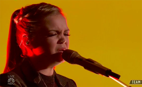 "Sarah Grace sings ""Goodbye Yellow Brick Road"" on The Voice Top 13 Live Shows"