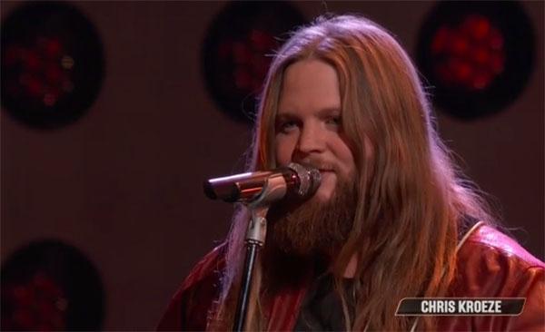 "Chris Kroeze sings ""Callin' Baton Rouge"" on The Voice Top 10 Live Shows"