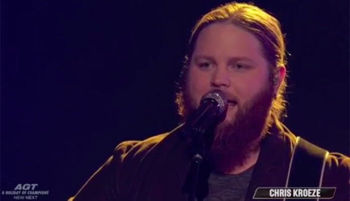 "Chris Kroeze sings Original Song ""Human"" on The Voice 2018 Finale"