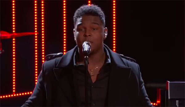 "DeAndre Nico sings ""That's What I Like"" on The Voice Top 10 Live Shows"