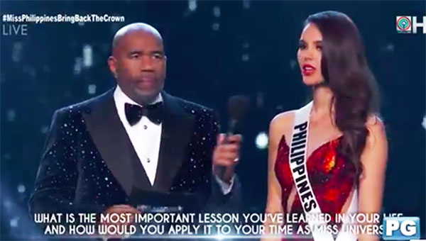 Miss Universe 2018 Question and Answer Q&A Portion Full Transcript and Video