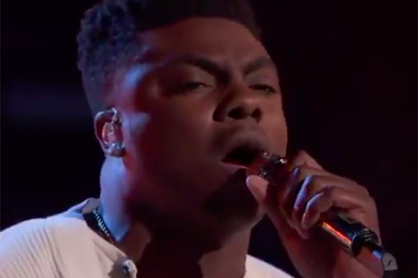 "Kirk Jay sings his version of ""Swear"" on The Voice Season 15 Top 8 Live Semifinals, Monday, December 10, 2018."
